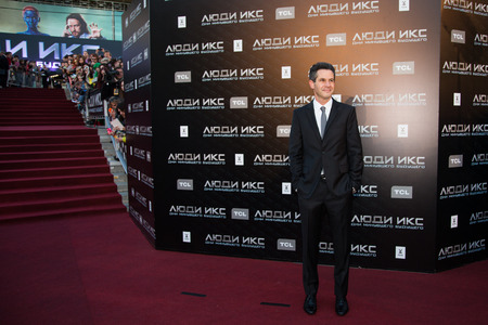 MOSCOW, RUSSIA, May, 13: Director Simon Kinberg. Premiere of the movie X-Men, May, 13, 2014 at Rossiya Cinema in Moscow, Russia