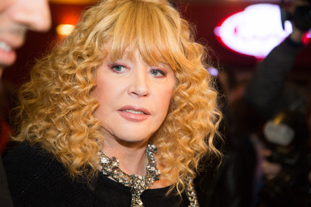sunstroke: MOSCOW - OCTOBER, 7: Singer Alla Pugacheva. Premiere of the movie Solnechny Udar, October,7 , 2014 at Octyabr Cinema in Moscow, Russia