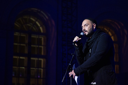 talk show: MOSCOW - OCTOBER 17: Director K. Serebrennikov during First Moscow International Forum - Culture. Look into the future on October 17, 2014 in Moscow, Russia. Editorial