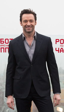 hugh: MOSCOW, RUSSIA, MARCH, 01: Actor Hugh Jackman. Photo-call of the movie Chappie, March, 01, 2015 at RITZ HOTEL in Moscow, Russia
