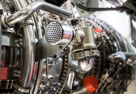 turbine: The interior of a jet engine