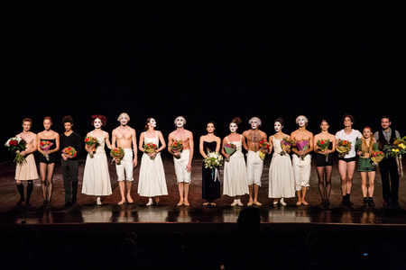 context: MOSCOW - NOVEMBER, 26:  Festival of  Contemporary choreography Context. Diana Vishneva at The Theatre of Mossovet. November 26, 2014 in Moscow, Russia Editorial