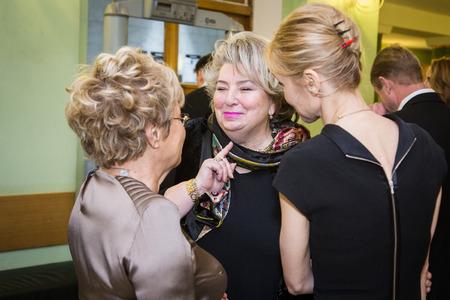 """diana: MOSCOW - NOVEMBER, 26: Actress I. Dapkunaite and T.Tarasova. Festival of  Contemporary choreography """"Context. Diana Vishneva"""" at The Theatre of Mossovet. November 26, 2014 in Moscow, Russia"""