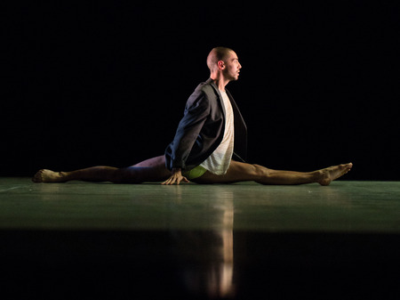 context: MOSCOW - NOVEMBER, 28: Mouth to Mouth by Danielle Agami. Rehearsal. Festival of  Contemporary choreography Context. Diana Vishneva at The Theatre of Mossovet. November 28, 2014 in Moscow, Russia Editorial