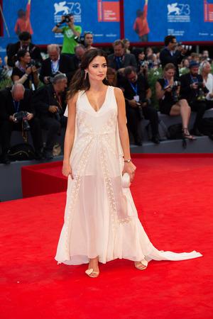 premiere: Giulia Elettra Gorietti  at the premiere of Hacksaw Ridge at the 2016 Venice Film Festival. September 4, 2016  Venice, Italy