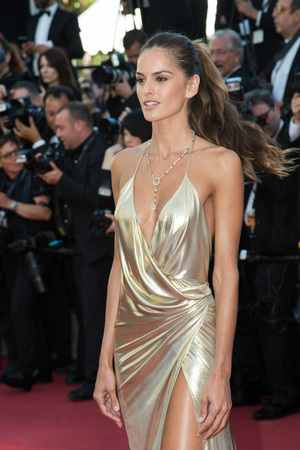 CANNES, FRANCE - MAY 20: Izabel Goulart  attends the The Last Face premiere. 69th annual Cannes Film Festival at the Palais des Festivals on May 20, 2016 in Cannes Editorial