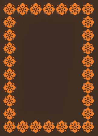 Brown and orange border background
