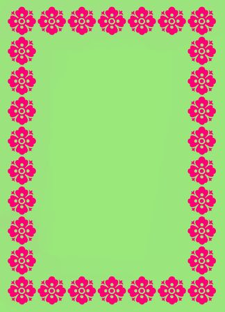 Green and pink boarder background