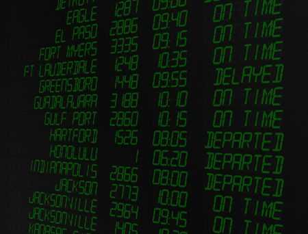 screen: Airport flight screen, illustration