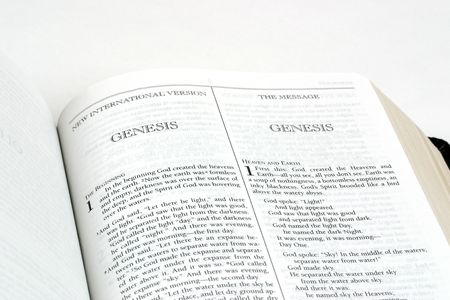 writing western: Bible open to start of chapter