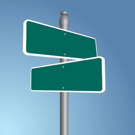 Crossroads Blank Vector Illustration Ilustração