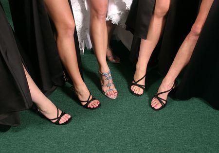 sexy f�sse: Fraktion der Sexy Beine  Lizenzfreie Bilder