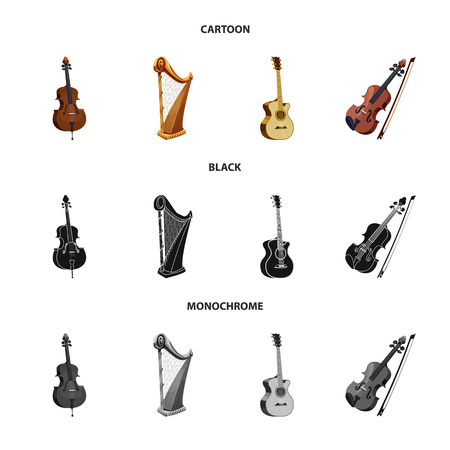 Isolated object of music and tune sign. Set of music and tool stock vector illustration. Banque d'images - 108603029