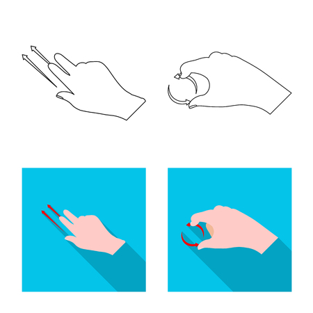 Vector design of touchscreen and hand sign. Collection of touchscreen and touch stock vector illustration.