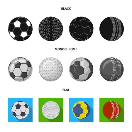 Isoliertes Objekt des Sports und des Ballzeichens. Satz Sport und sportliche Aktienvektorillustration.
