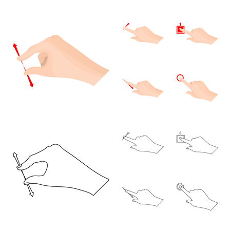 Isolated object of touchscreen and hand icon. Set of touchscreen and touch vector icon for stock. Stock fotó - 108841405