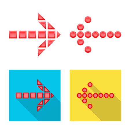 Isolated object of element and arrow icon. Set of element and direction stock vector illustration.