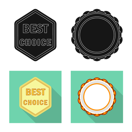 Isolated object of emblem and badge symbol. Collection of emblem and sticker stock symbol for web. Stockfoto - 108844519