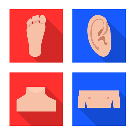 Isolated object of human and part . Collection of human and woman stock symbol for web. Illustration
