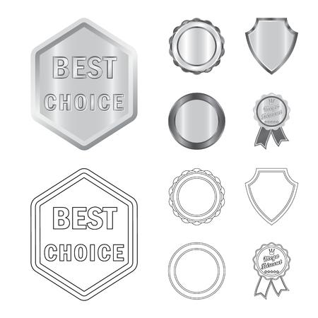 Vector ontwerp van embleem en kenteken. Verzameling van embleem en sticker vector pictogram voor voorraad.