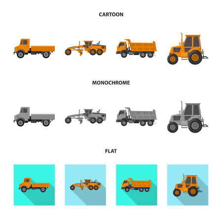 Isolated object of build and construction icon. Collection of build and machinery vector icon for stock. Illustration