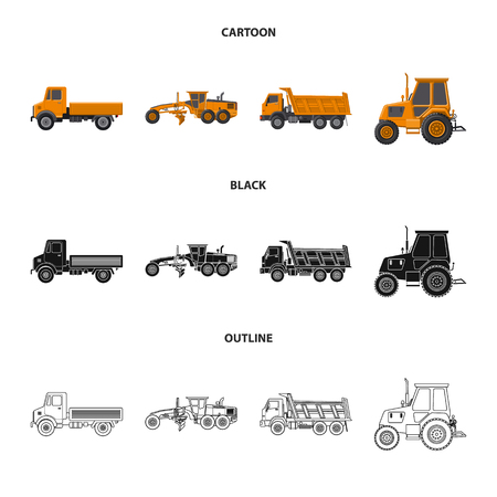 Isolated object of build and construction . Set of build and machinery stock symbol for web. Ilustrace