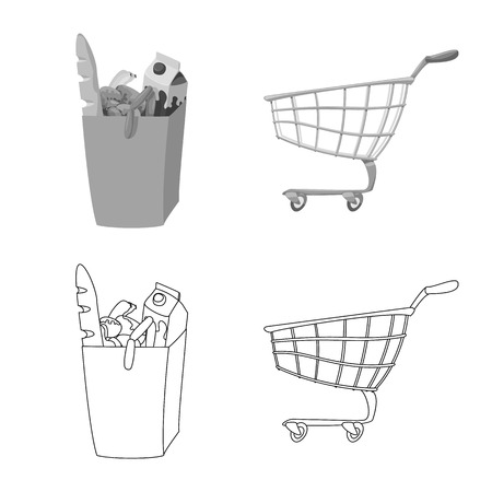 Vector design of food and drink  . Collection of food and store stock symbol for web.