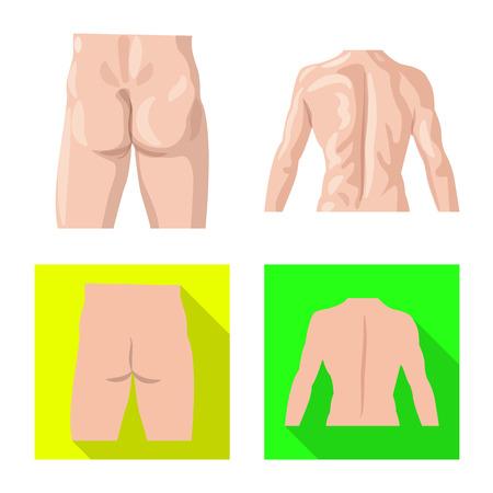Conception vectorielle du symbole humain et partiel. Ensemble de symbole boursier humain et femme pour le web.