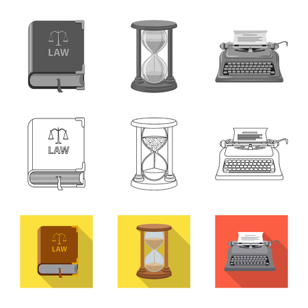 Vector design of law and lawyer . Set of law and justice vector icon for stock.