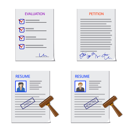 Vector illustration of form and document symbol. Set of form and mark vector icon for stock. Çizim