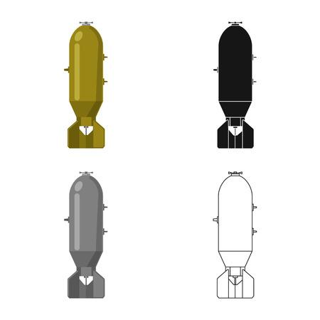Disegno vettoriale del logo di armi e armi. Raccolta di arma e simbolo azionario dell'esercito per il web. Logo