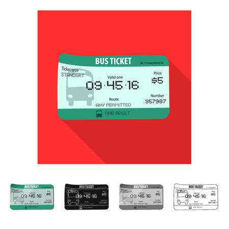 Vector design of ticket and admission logo. Collection of ticket and event stock vector illustration. Illustration
