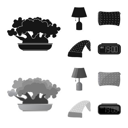 Vector illustration of dreams and night logo. Collection of dreams and bedroom vector icon for stock.