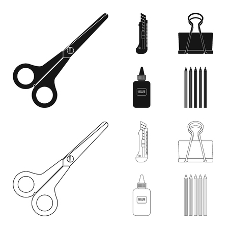 Vector design of office and supply icon. Collection of office and school stock vector illustration.