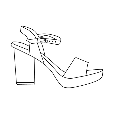 Vector illustration of footwear and woman logo. Set of footwear and foot vector icon for stock. Logo