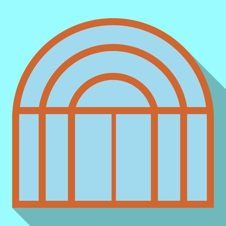 Vector ontwerp van deur en voorkant pictogram. Set van deur en houten vector pictogram voor voorraad. Vector Illustratie