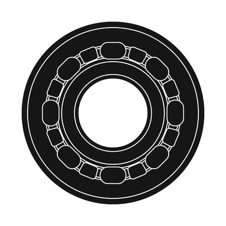 Illustrazione vettoriale di auto e segno di parte. Raccolta di auto e auto simbolo azionario per il web.