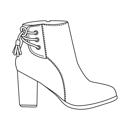 Vector design of footwear and woman symbol. Collection of footwear and foot vector icon for stock. 向量圖像