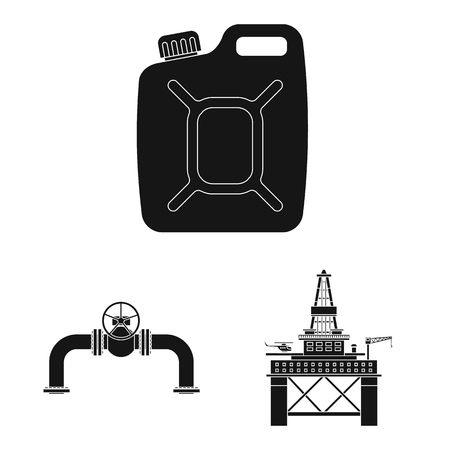 Vector illustration of oil and gas logo. Set of oil and petrol stock symbol for web. Stock Illustratie