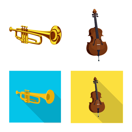Vector design of music and tune sign. Collection of music and tool stock symbol for web. Banque d'images - 108799075