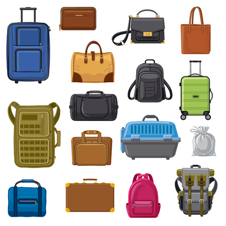 Picture bags for travel in pictures. Stok Fotoğraf