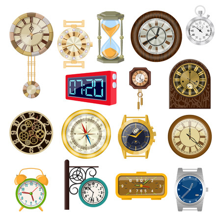 Collection of pictures on the theme of hours.