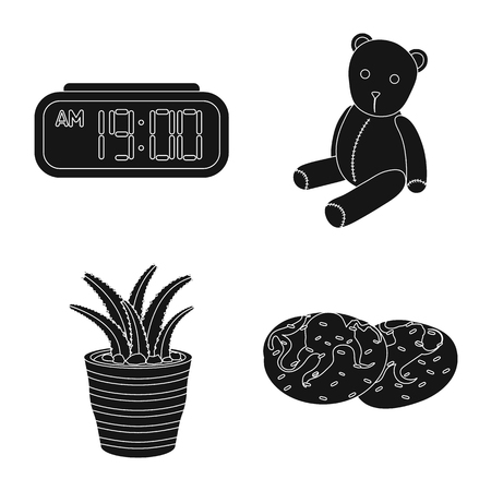 Vector illustration of dreams and night sign. Collection of dreams and bedroom vector icon for stock. Illustration