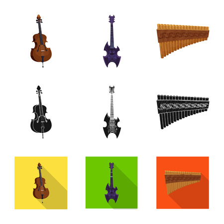 Vector design of music and tune sign. Collection of music and tool stock symbol for web. Illustration