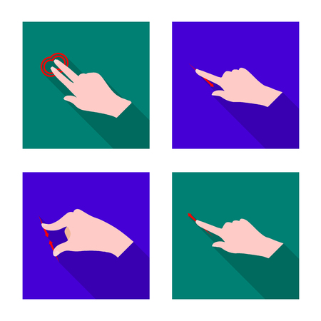 Vector design of touchscreen and hand logo. Collection of touchscreen and touch stock vector illustration. Illustration
