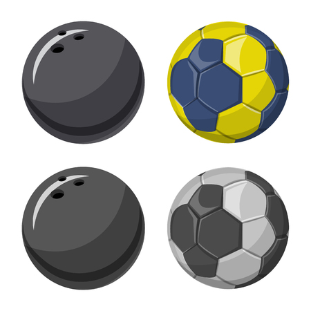 Isolated object of sport and ball symbol. Set of sport and athletic stock symbol for web.