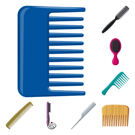 Vector design of brush and hair sign. Collection of brush and hairbrush vector icon for stock.