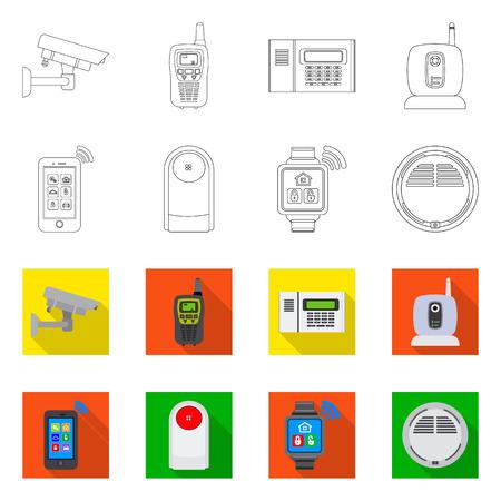 Conception de vecteur de signe de bureau et de maison. Collection d'icône de vecteur de bureau et système pour le stock. Vecteurs
