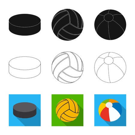 Vector illustration of sport and ball icon. Collection of sport and athletic stock symbol for web. Illustration