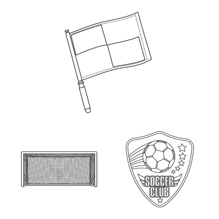 Isolated object of soccer and gear icon. Set of soccer and tournament stock symbol for web.